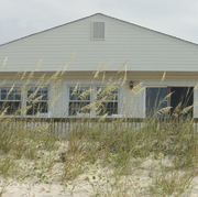 Our house from the beach