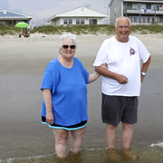Pat Tom Sr at Long Beach on Oak Island