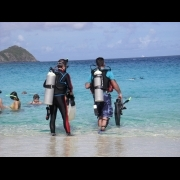 Divers at Coki Beach